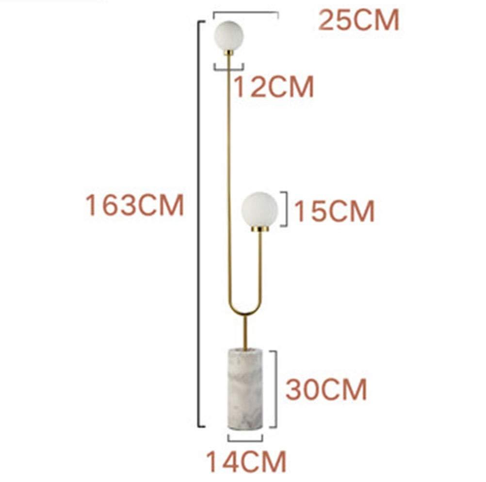 フロアランプ ランプ- フロアランプクリエイティブリビングルーム人格シンプルな寝室led大理石ガラスフロアランプ研究読書ランプ My-JUAN.97 (形状 けいじょう : C) B07SDRCKX2  C