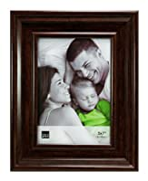 Kiera Grace Cole Picture Frame, 5 by 7-Inch, Antique Walnut Finish