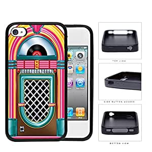 Retro Jukebox Rock And Roll Rubber Silicone TPU Cell Phone Case Apple iPhone 4 4s