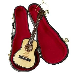"""Best Epic Trends 51KV7LKzkeL._SS300_ Kurt Adler 5.52"""" Wood Pearlized Guitar Ornament"""