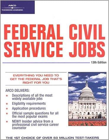 Federal Civil Service Jobs 13 E Federal Civil Service Jobs 13th Ed Arco 0785555028357 Amazon Com Books