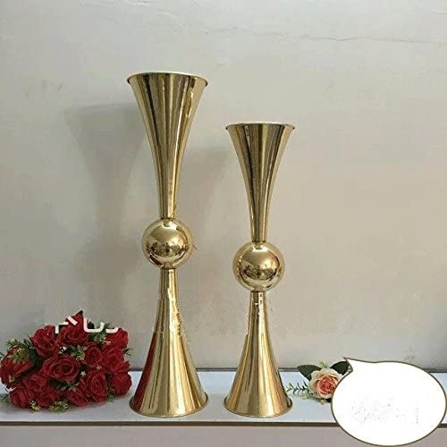 Reversible Latour Trumpet Vase 1 Pc Gold, 29
