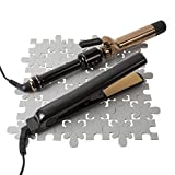 """Heat Resistant Station Travel Mat for Hot Hair Styling Tools, Hair Straightener, Curling Iron, Flat Iron or Curling Wand, 12"""" x 12"""""""
