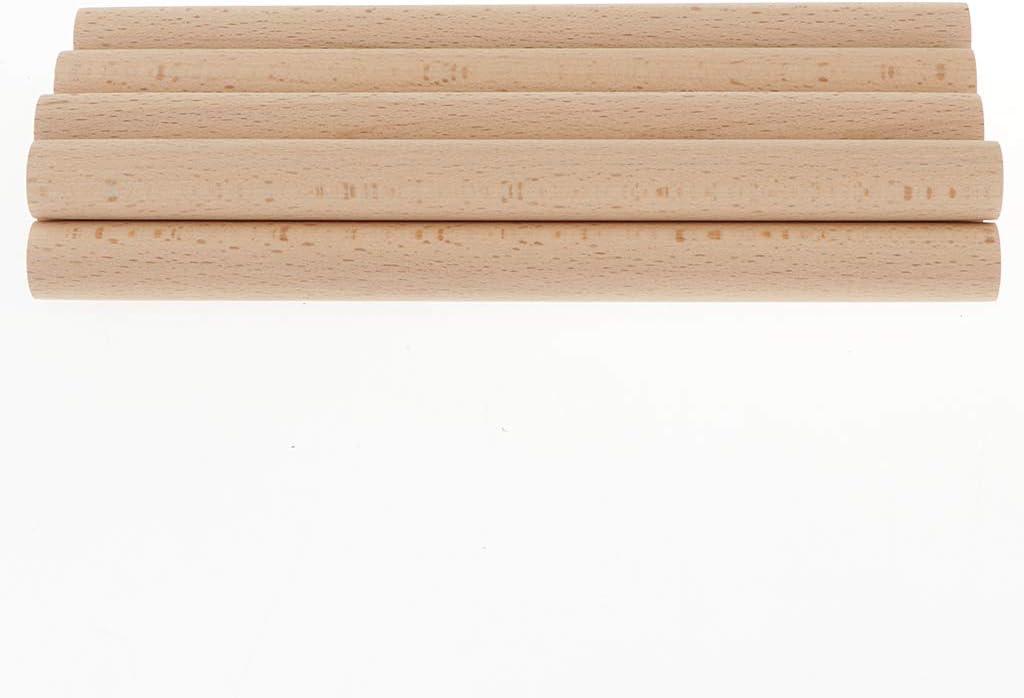 Palo de Madera para Decoraci/ón de Hogar Baoblaze 10pcs Varilla Redonda de Madera 150x18mm Manualidades DIY