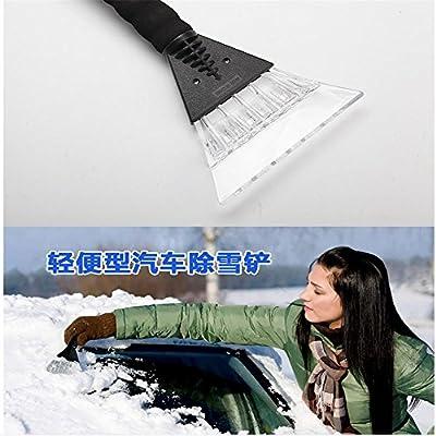 SONGHANG510 ice Scraper for car with Brush extendable ice Scraper for car, ice Scraper for car Pink ice Scraper,Winter Foam Handle Car Motorcycle Snow Shovel Ice Scraper(1Pc) (Black): Automotive
