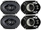 4 Pioneer 5x7 / 6x8 Inch 4-Way 350 Watt Car Stereo Speakers Four | TS-A6886R