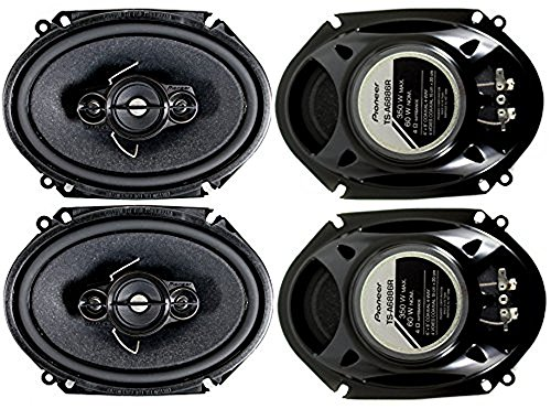 4) Pioneer 5x7 / 6x8 Inch 4-Way 350 Watt Car Stereo Speakers Four | (4 Way Component Car Speakers)