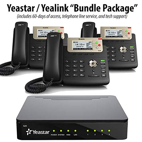 Yeastar S20 - PBX Business Phone System (Cloud/Hosted / Co-Located Version) w 3 Yealink SIP-T23G ()