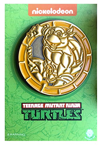 - NYCC 2018 Golden Michelangelo Emblem - LE TMNT Collectible Pin