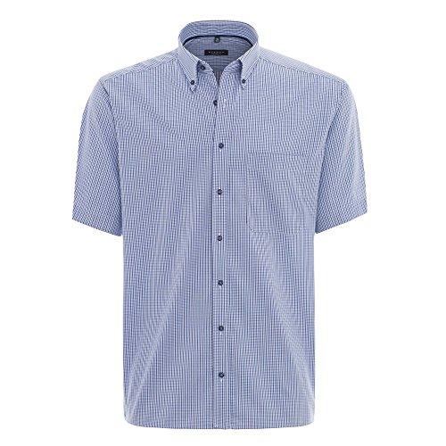 Eterna Herrenhemd Kurzarm Hemd Freizeithemd Buisnesshemd bügelfrei Comfort Fit Blau Schwarz Weiß kariert Gr. XXL/45