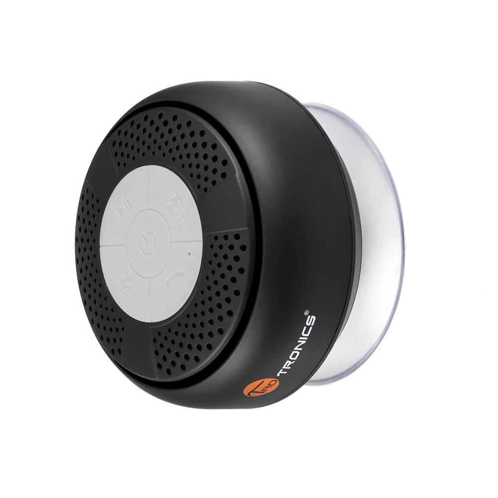 TaoTronics Wireless Bluetooth 3.0 Shower Speaker With Microphone Black TT-SK03