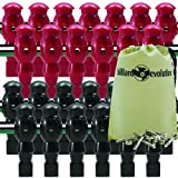 26 Red and Black Robotic Foosball Men with Free Screws and Nuts and Billiard Evolution Drawstring Bag