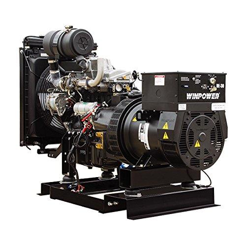 30KW Winco Liq Cool Diesel 120/240V Three Phase Ind Gen, Block Heater, Comp 54 Gal, 2 Amp Batt Chgr-DE30I4-17/2-8301123-172