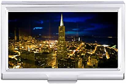 Night view of San Francisco. Card Holder