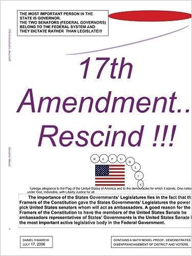 Amazon 17th Amendmentscind 9781438917313 Daniel