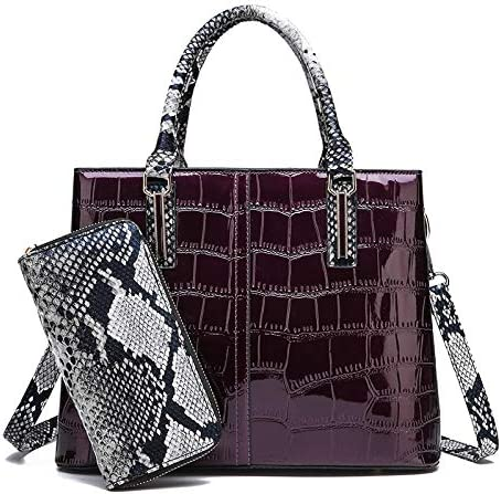 Color : Deep Brown RLJJCS Mobile Handbags European and American Fashion Crocodile Pattern Shoulder Diagonal Cross Briefcase Crossbody Bag