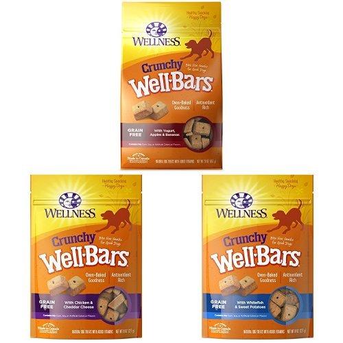 (Crunchy Treats Bulk Pack 1: Wellbars Yogurt, Apples & Bananas 20Oz , Wellbars Chicken And Cheddar 8 Oz, Wellbars Whitefish & Sweet Potato 8 Oz)