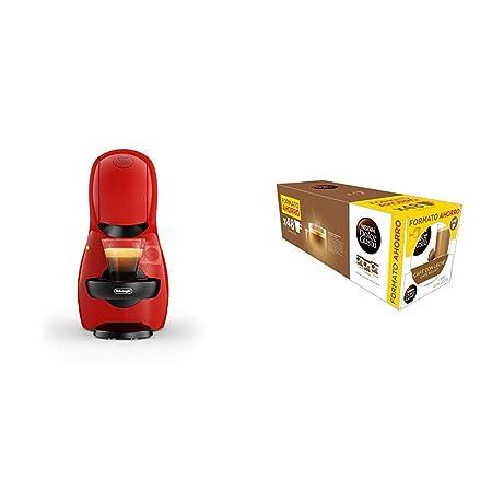 Pack DeLonghi Dolce Gusto Piccolo XS EDG210.R - Cafetera de cápsulas, 15 bares de presión, color rojo + 3 packs de café Dolce Gusto Con Leche
