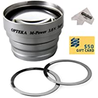 Opteka 3x Telephoto Converter Magnetic Magnet Lens for Premier DC1310, DC 1311, DC 4330, DC 4382, DC 5330, DC 5382 Digital Camera