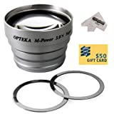 Opteka 3x Telephoto Converter Magnetic Magnet Lens for Epson PC L-300, PC L-400 Digital Camera