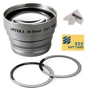 Opteka 3x Telephoto Converter Magnetic Magnet Lens for HP PHOTOSMART 320, 735, 812, 935, M407, M417 Digital Camera