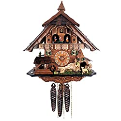 River City Clocks MD490-17 One Day Musical Cuckoo Clock Moving Sheep Herder and Waterwheel
