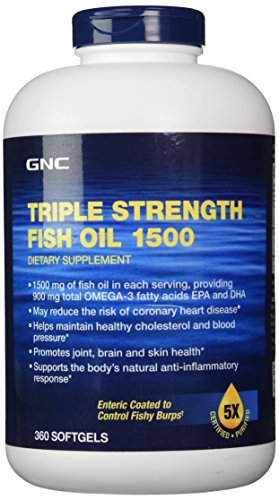 GNC Triple Strength Fish Oil 1500 360 softgels - Buy Online in UAE.   Health and Beauty Products ...