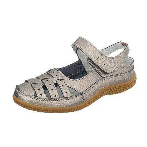 Zapatos para mujer Zapatos de tacon Plataforma Cuñas Ital-Design Bronze 5008-2