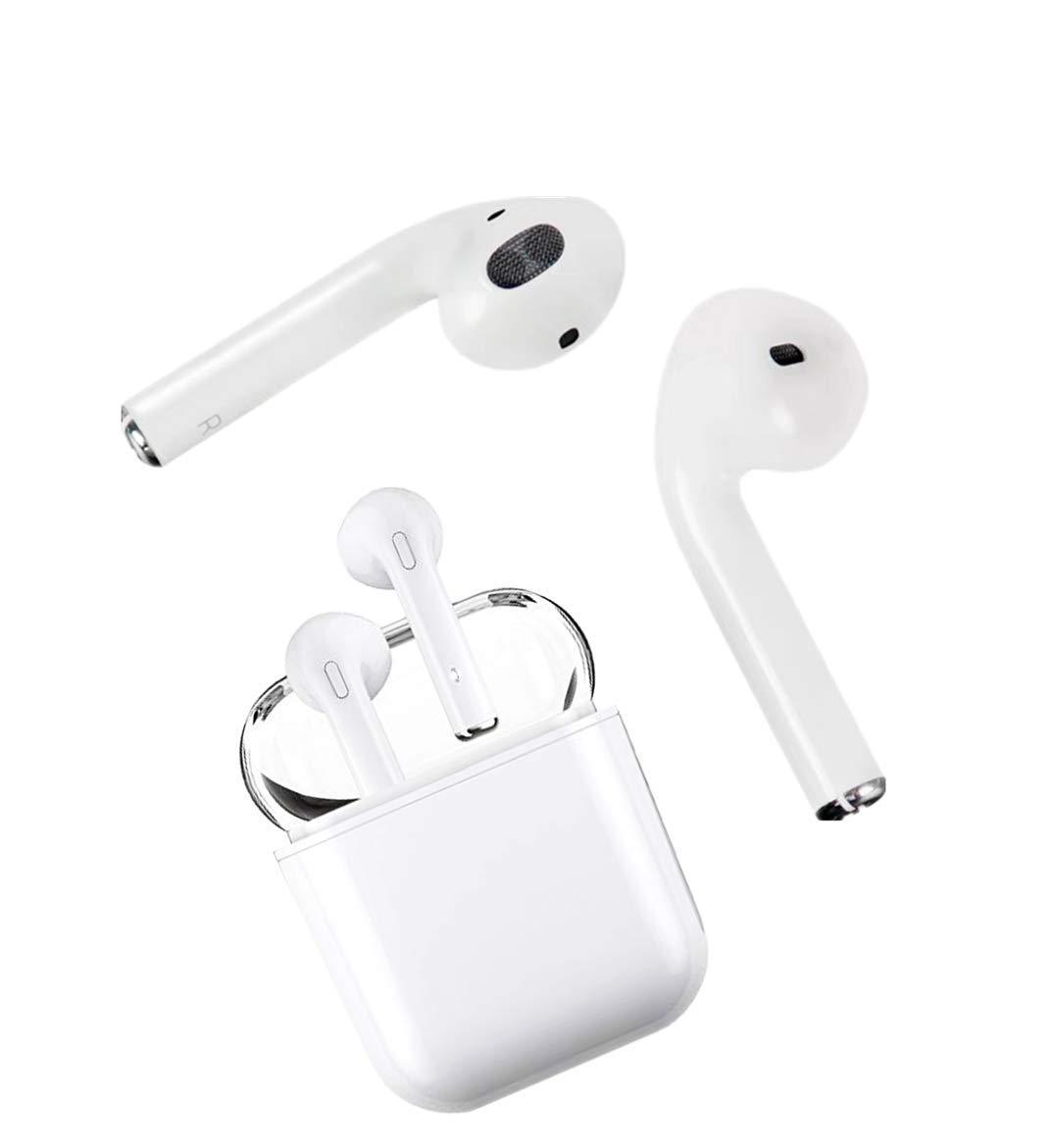 Auricular inalámbrico HD con micrófono manos libres con reducción de ruido, micrófono emparejado automático de llamadas binaurales, auricular inalámbrico y ...