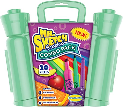 Mr. Sketch Scented Combo Pack with Markers & Twist Crayons, 20 Pieces (1969475) (Twist Stop)