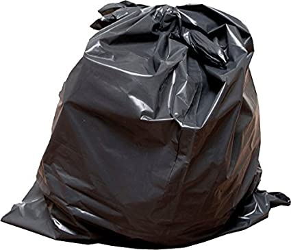42-46 Gallon 2mil Extra Heavy Duty Contractor Garbage Bags, Puncture-Resistant, MADE IN USA, 37 X 43 (Black, 25 count)