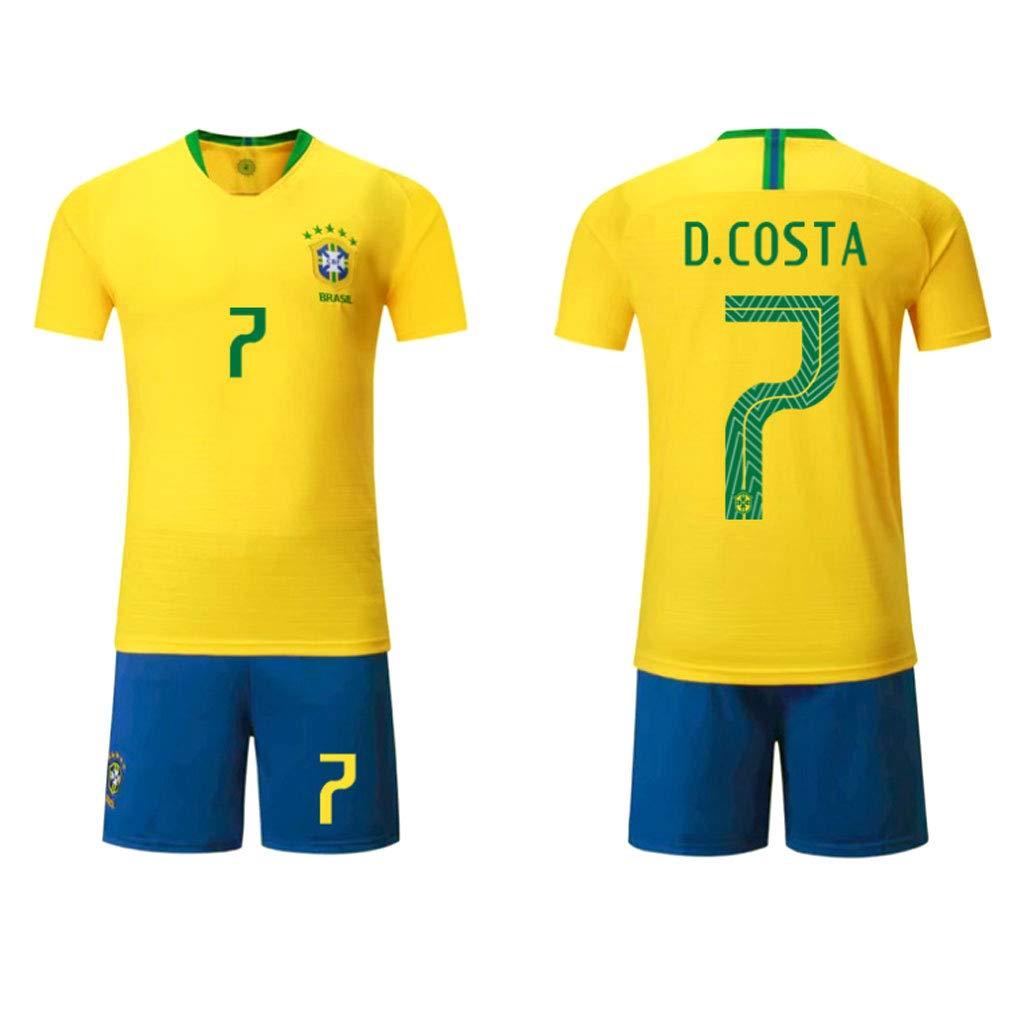 gar/çon de Football T-Shirt adapt/é aux Enfants et aux Adultes Absorbant Dry Comfortable Game Suit HAOHAOWU Maillot de Foot # 10//7 Neymar V/êtements de Sport de Football