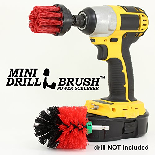 Mini Size Power Scrubber Stiff Scrub Brush 2inch Diameter St