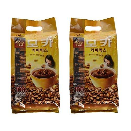 Rosebud Mocha Coffee Mix (12g x 100 sticks) - Pack of 2