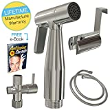Kyпить Hand Held Bidet Sprayer, Beautiful Brushed Nickel Toilet Sprayer - Rust Proof Hand Held Sprayer Amazing For Toilet Cleaning, Cloth Diaper Sprayer and More – A Super Durable Bidet Shattaf на Amazon.com