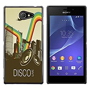 Dragon Case - FOR Sony Xperia M2 - ?you love is not happy - Caja protectora de pl??stico duro de la cubierta Dise?¡Ào Slim Fit