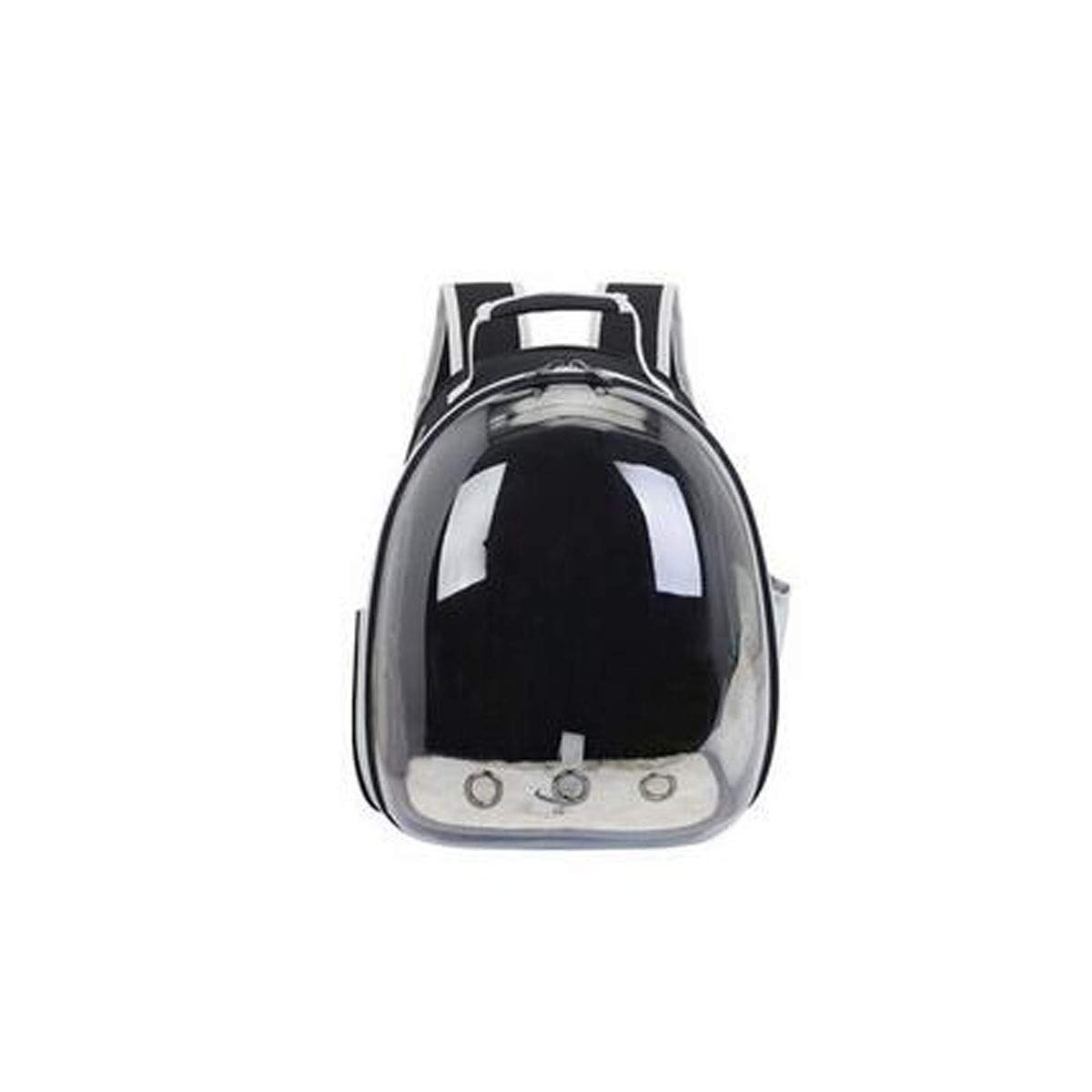 Black Chenjinxiang01 Outdoor pet backpack, space capsule bubble transparent backpack, suitable for mediumsized pets for travel, hiking (color   Pink)