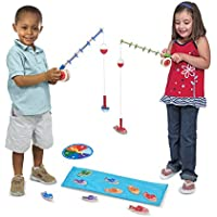 Melissa & Doug Catch & Count Wooden Fishing Game With 2...