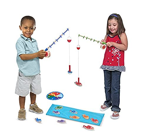 Melissa & Doug Catch & Count Wooden Fishing Game With 2 Magnetic Rods - Special Build Part