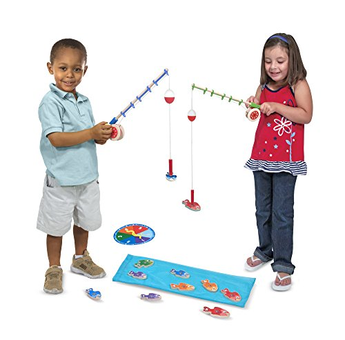 Melissa & Doug Catch & Count Wooden Fishing Game With 2 Magnetic - Malls In Outlet Vermont