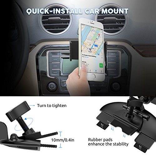 mpow car phone holder cd slot universal car phone mount import it all. Black Bedroom Furniture Sets. Home Design Ideas