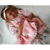 "NPK 22"" Reborn Baby Gilr Doll Newborn Baby Dolls Realistic Silicone Vinly Babys Doll for Girl Xmas Gift"