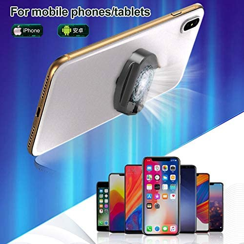 Hapshop Foldable Mobile Phone Cooler Cooling Support Holder Bracket with Fan Radiator for Smartphone Tablet