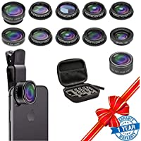Cell Phone Camera Lens Kit, SEVENKA 11 in 1 Super Wide...