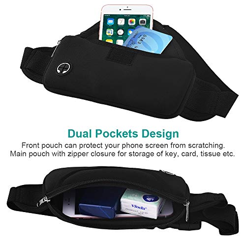 Aisver Fanny Packs Waist Bag for Women & Men, Waterproof Lightweight Phone Holder Running Belt Compatible for iPhone X 8 7 Plus, Galaxy S9 S8 S7, Adjustable Strap for Gym Traveling Hiking Cycling by Aisver (Image #1)