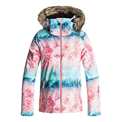 Roxy Big Girls' American Pie Snow Jacket, Neon Grapefruit_Solargradient, 12/Large