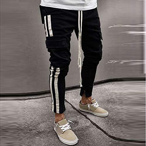 Autunno Invernali Inverno Nuovo Felpati Somesun Pantaloni lavoro Moda Strappati Nero Pantaloni Multi Elegante pocket Uomo Giovane Cowboy CTWWa7n5
