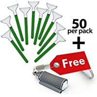 VisibleDust sensor cleaning swabs Vswabs MXD-100 Green 1.6 x / 16 mm - 50 per box and FREE Swablight