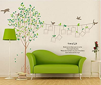 ElecMotive Wall Stickers Wall Decals Trees Photo Frame Butterfly Birds and Removable Wall Decor Decorative Painting Supplies & Wall Treatments Stickers for Girls Kids Living Room Bedroom Wallpops