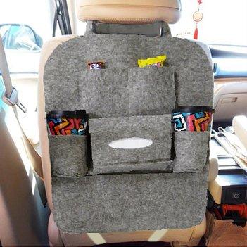 64aec32f1 Bolsa Organizadora Para Uber e Taxi Assento De Carro Com 6 Divisorias Cinza